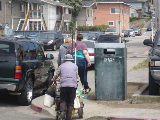 Man, Cart, Trash