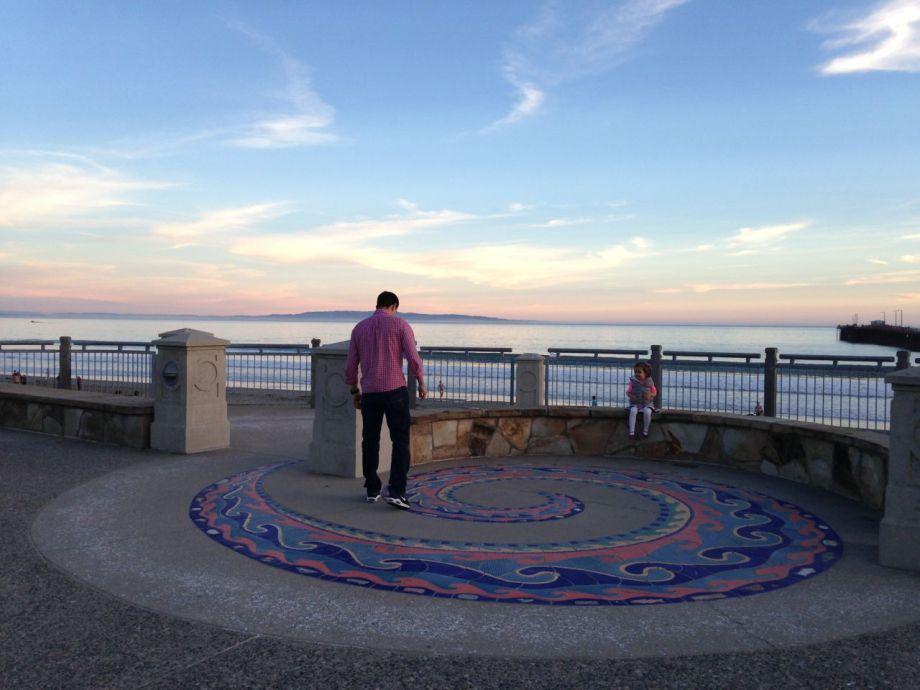 Man & Girl at Avila Beach