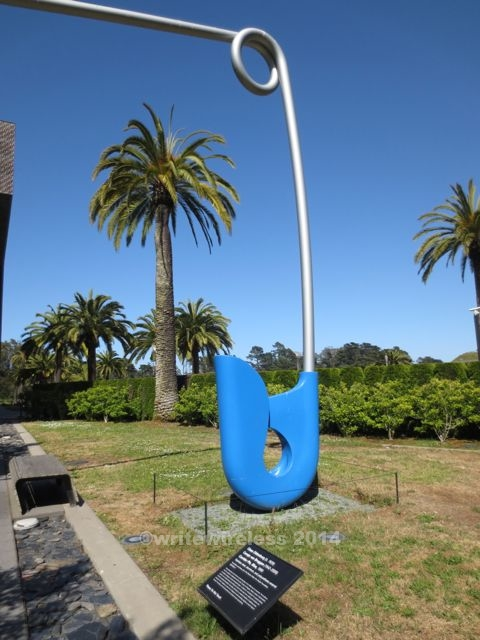 Blue Safety Pin Sculpture