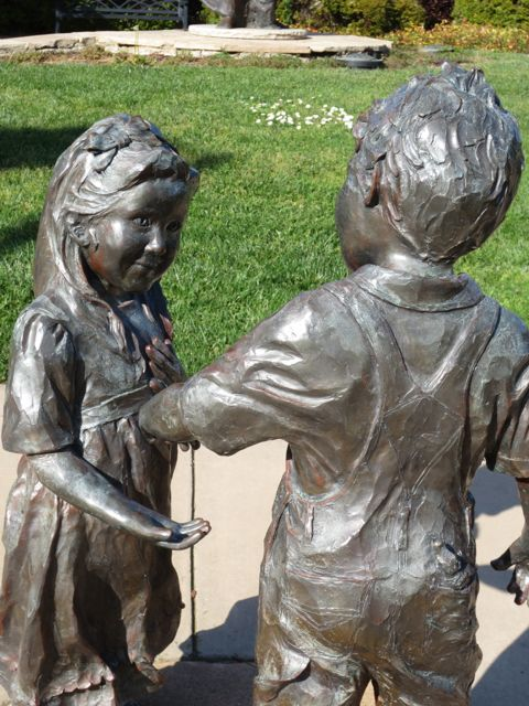 Boy & Girl Sculpture